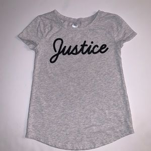 Sparkly Justice Short Sleeve T-Shirt Size: 8